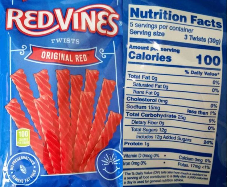 The Updated Nutrition Facts Label As Seen On Red Vines Original Red Twists Image Courtesy Of Label Insight Nutrition Facts Label Nutrition Nutrition Facts