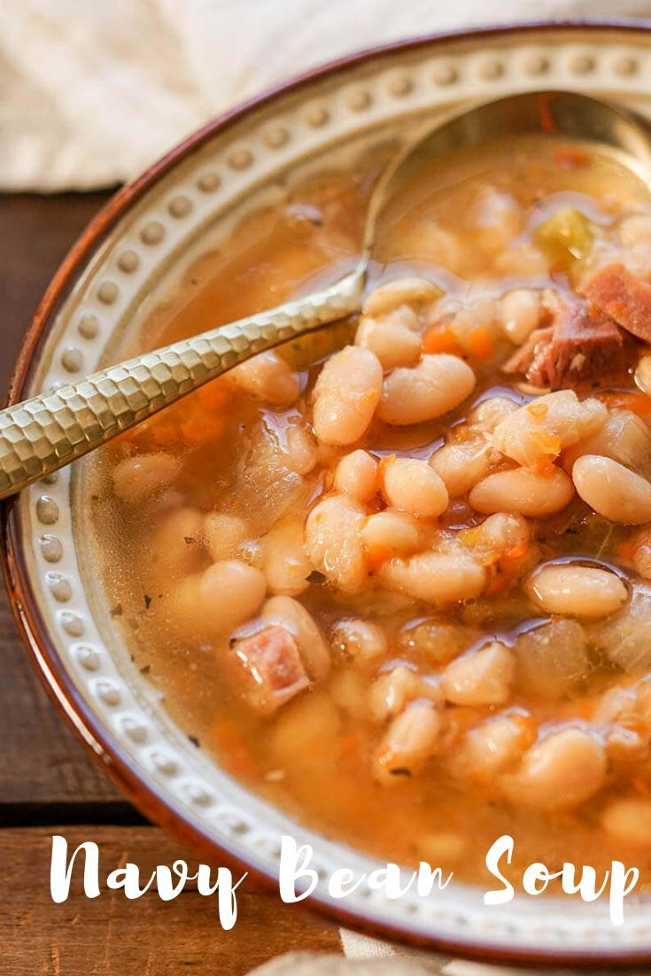 Ham And Bean Soup Recipe Ham And Bean Soup Bean Soup Recipes Ham And Beans