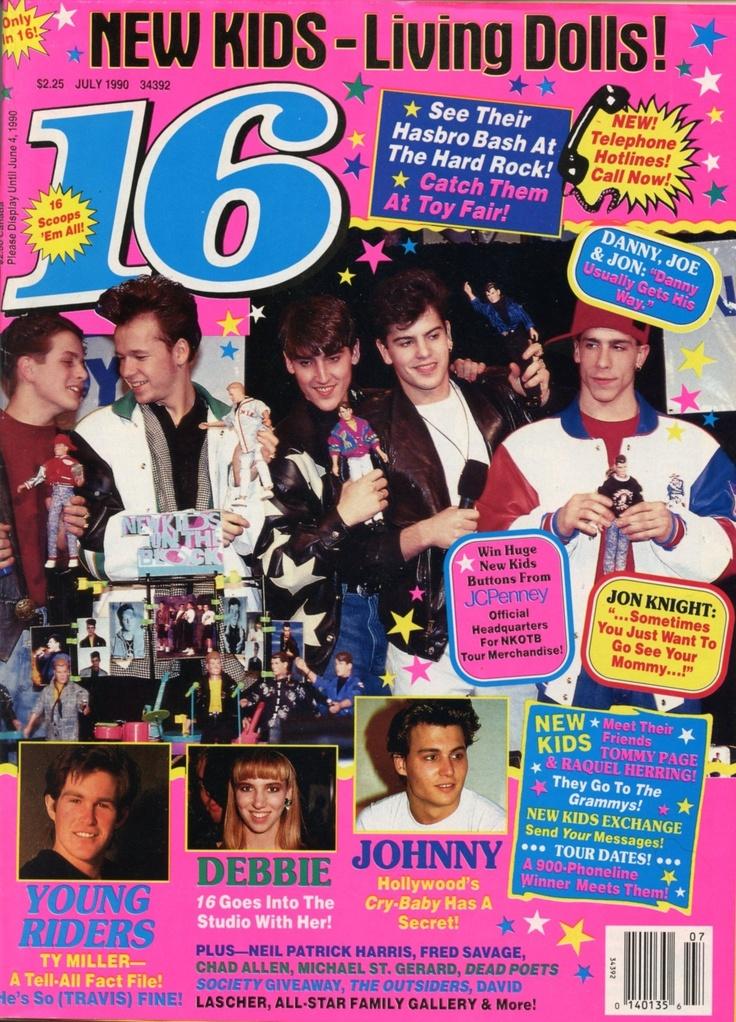 16 Teen Magazine July 1990 NKOTB, Johnny Depp, Young Riders etc | eBay