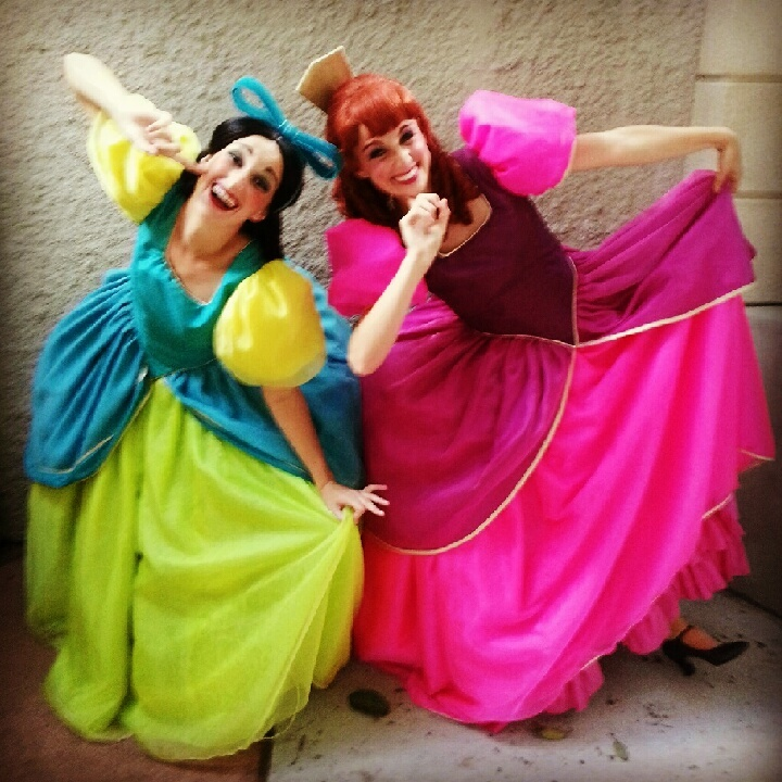 Anastasia and Drizella Tremaine at Disney World. My favorites!