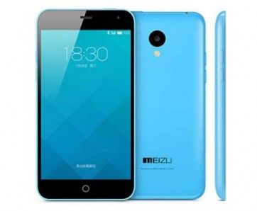 Meizu Meilan Note use 5.0 inch Corning Gorilla Glass 3 screen, 1GB RAM + 8GB ROM with MT6732 quad core 1.5GHz processor, has 5MP front + 13MP rear double camera, installed Flyme 4 OS.