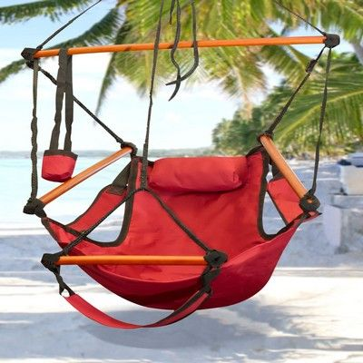 Deluxe Red Sky Air Chair Swing Hanging Hammock - $43.  Really!???  Found one at the fair several years ago (not as nice...no drink holder *winkwink*) and they wanted $75!