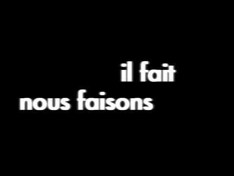 Les Conjugaisons du verbe Faire - Une Chanson/ The Conjugations of the verb Faire - A Song - YouTube