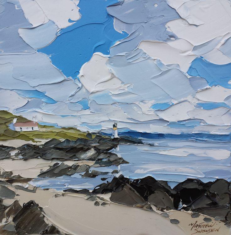 Port Charlotte Islay 40x40cm - Matthew Snowden