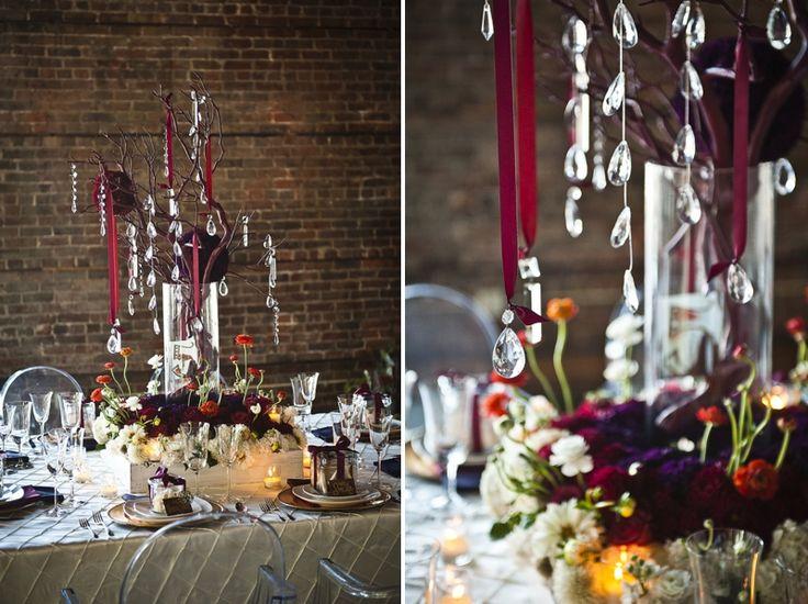Modern Purple & Red Winter Wedding Inspiration - Every Last Detail