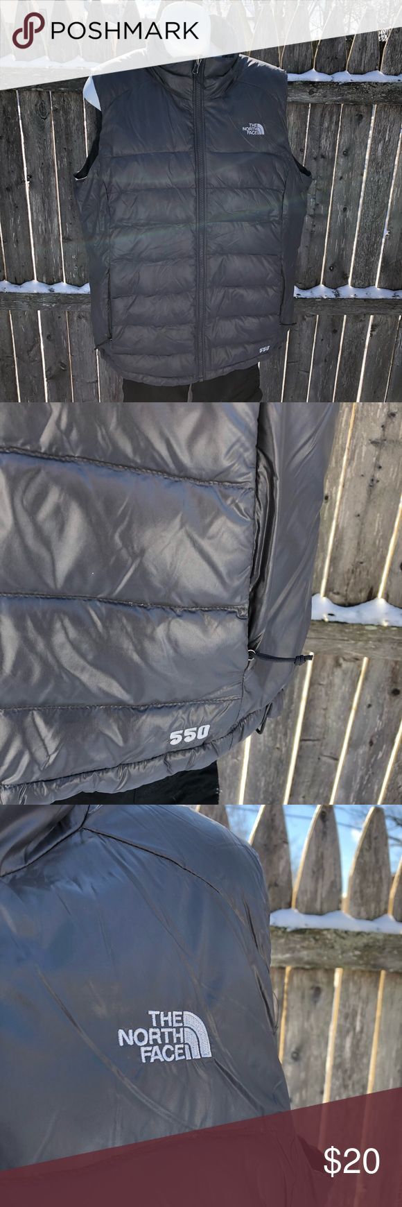 The North Face 550 Weight Goose Down Vest This is a very gently used goose down vest from The North Face. Original owner. Purchased from TNF outlet Cincinnati in 2012. Worn maybe 10 times. Winters in Ohio call for whole winter coats. Not vests. The North Face Jackets & Coats Vests