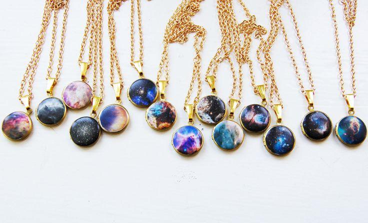 Galaxy necklaces. So pretty!