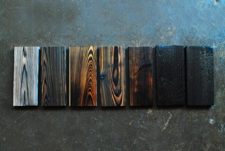 Remodeling 101: Shou Sugi Ban Torched Lumber:  Repeat after us: shou sugi ban. Devised as a way to make wood less susceptible to fire and to keep away insects and rot, this longstanding Japanese method involves torching your building materials.