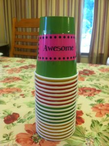 Management strategy... Totally trying this idea this year. Each table has a red, yellow and green cup. Switch the cup to yellow if the group is being too loud...