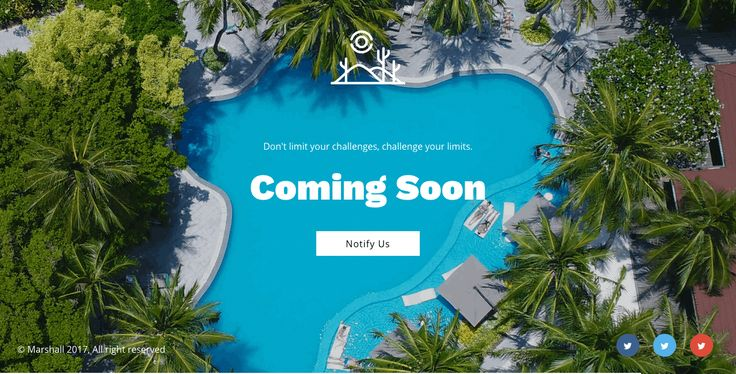 Marshall Coming Soon HTML5 template - Background Slider version