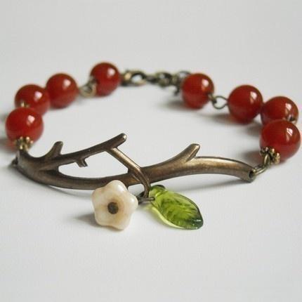 #jeweleryCherries Blossoms, Apples Orchards, Agates, Bliss Bracelets, Beads, Jewelry, Charms Bracelets, Friendship Bracelets, Branches