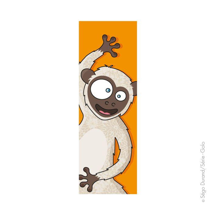 Tableau singe rigolo pour chambre d'enfant.