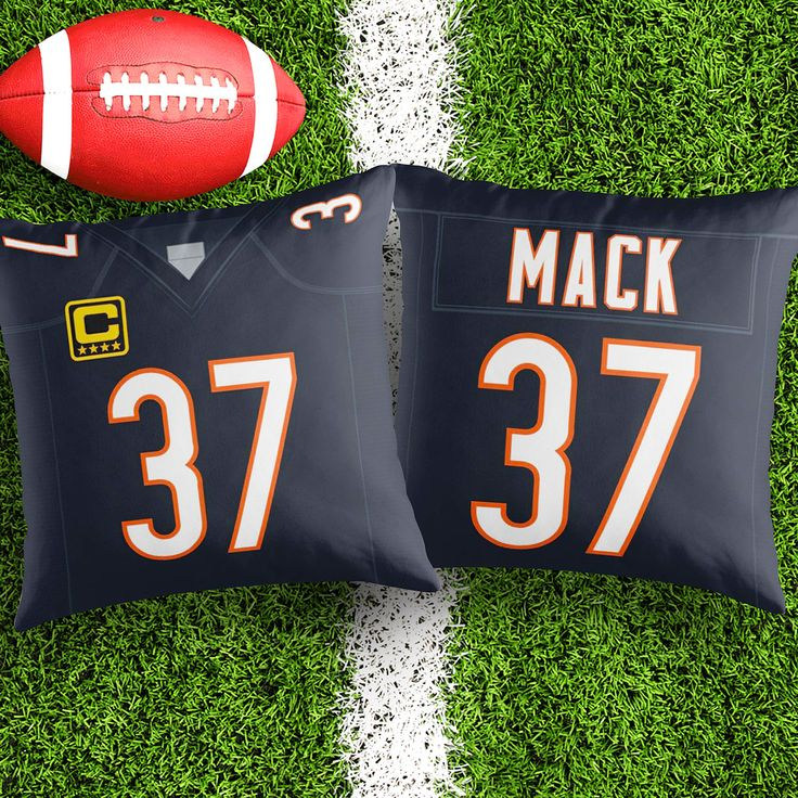 Personalised Chicago Bears decorative Cushion Cover Fan inspired product Gift for boyfriend american football