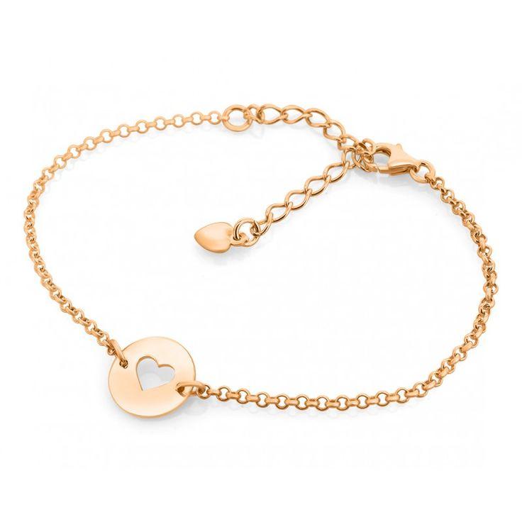 Ein wunderschönes, angesagtes Armband aus 925 Sterling Silber rosé Gold hochwertig vergoldet mit Herz.