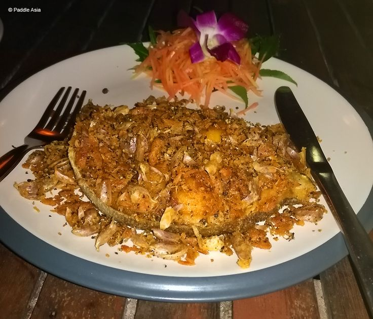Barracuda with garlic and pepper