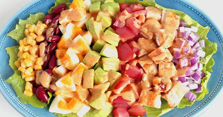 アボカドとチキンのカラフルコブサラダ by キユーピー野菜レシピ [クックパッド] 簡単おいしいみんなのレシピが250万品