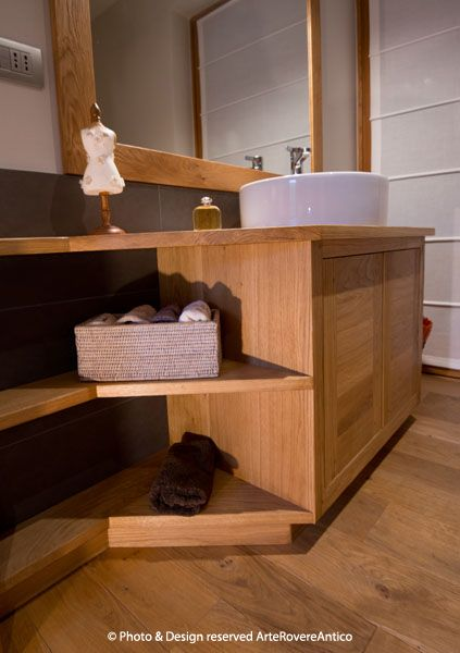 Wood Bathroom inspiration by Arte Rovere Antico || Photo by Duilio Beltramone for Sgsm.it ||
