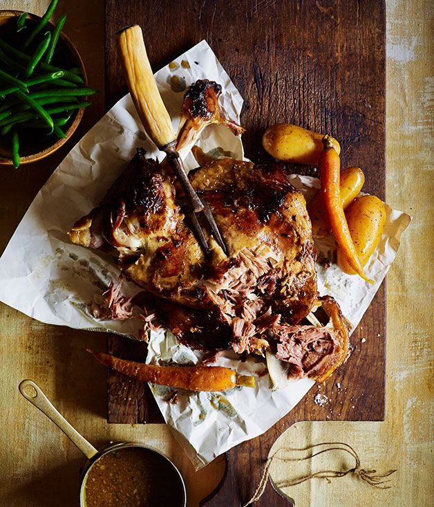 Australian Gourmet Traveller recipe for Moroccan lamb with honey.