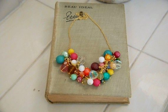 The gum drop necklace bold bright clusture by GypsyAffairs on Etsy, $68.00