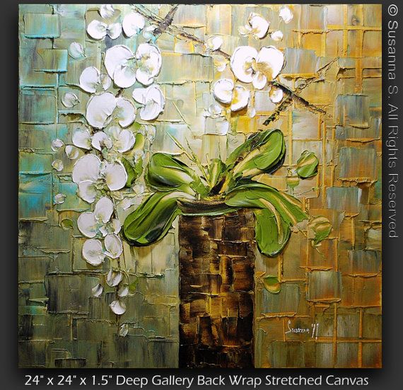 quadro su parete marrone olio su tela : Oltre 1000 idee su Pittura Di Fiori A Olio su Pinterest Dipingere ...