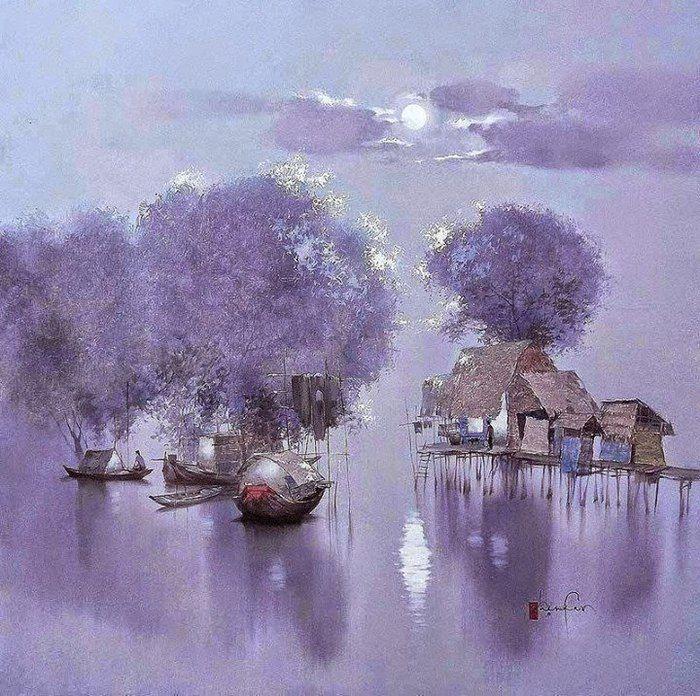 Вьетнамский художник Данг Ван Кан (род.1957 г.)