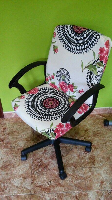 Tapizado de silla de oficina
