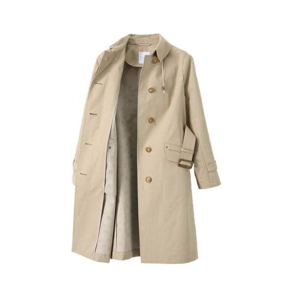 MACKINTOSH PHILOSOPHY コットン ボンディングコート (€540) ❤ liked on Polyvore featuring outerwear, coats, jackets, coats & jackets i brown coat
