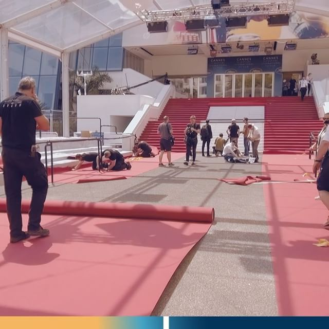 60 Seconds In Cannes2018 Linstallation Du Tapis Rouge The Red