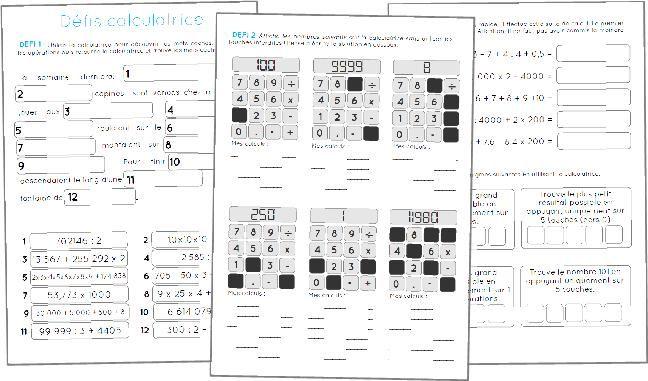 [Maths] Défi calculatrice - Cycle 3 _ Mes cm2 ont adoré !