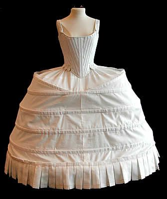 18th century corset stays and panniers 2/8/16  3