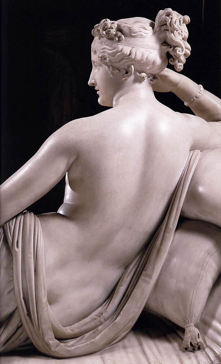 Venus Victrix by Canοva     Canova's marble sculpture of 1804- 08 epitomizes neo-classical nude beauty, is Napoleon's sister Pauline, Princess Borghese (1780 -1825), portrayed as Venus