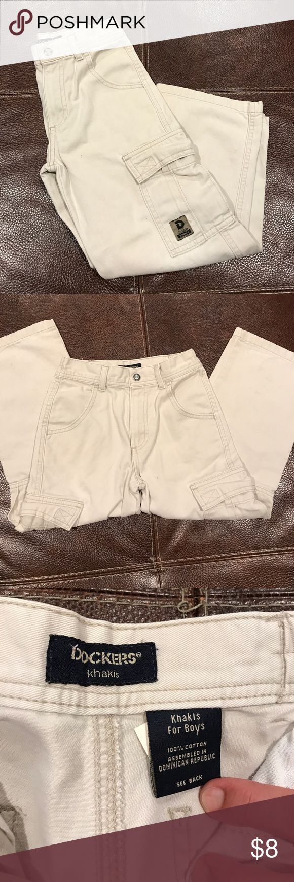 Dockers cocky pants for boys Kaki pants size 6 excellent condition Dockers Bottoms Casual