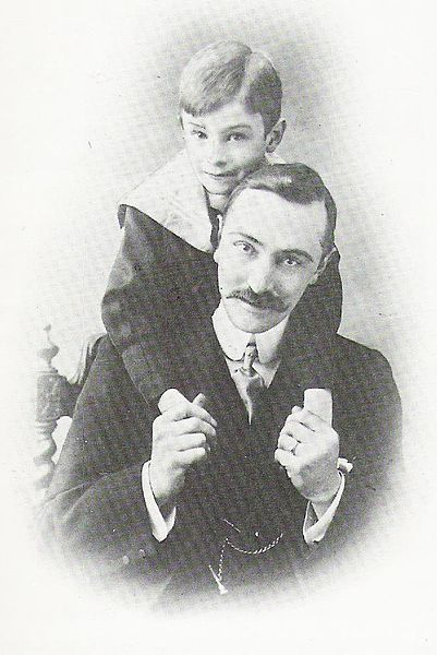Norman Warne and nephew Fred. ~ Beatrix was unofficially engaged to her editor Norman Warne for one month (July,1905) before his unexpected death a month later of lymphatic leukemia.