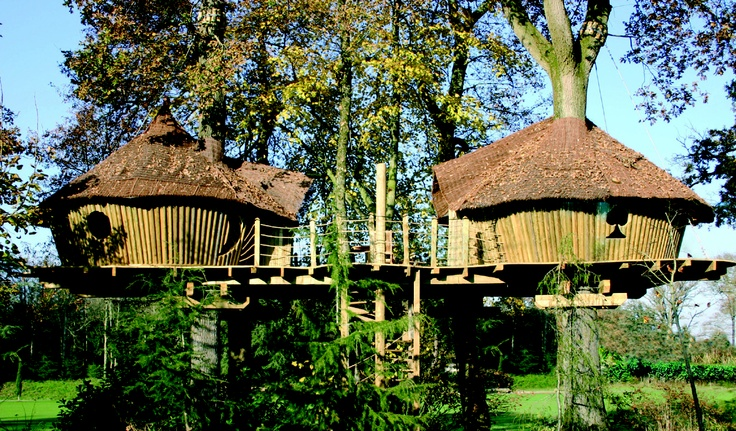 Here's one for the kids: Keycamp's treehouses are available to hire at seven of its family-friendly French campsites in Brittany, at La Croix du Vieux Pont (near Disneyland), La Forêt (Vendée), Le Château des Marais (Loire), Le Val de Bonnal (Jura), and their latest site in a residential suburb of Maisons Laffitte in north-west Paris (the campsite is within walking distance of the local train station, which takes just 20 mins to the centre of Paris and also goes directly to Disneyland…