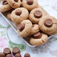 Jordnotskakor med chokladgodis