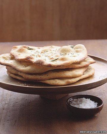 Garlic-Rosemary Flatbread Recipe