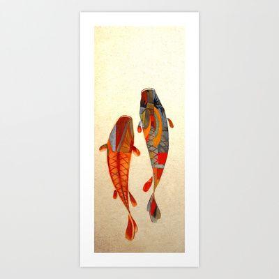 Kolors Koi Art Print by Fernando Vieira