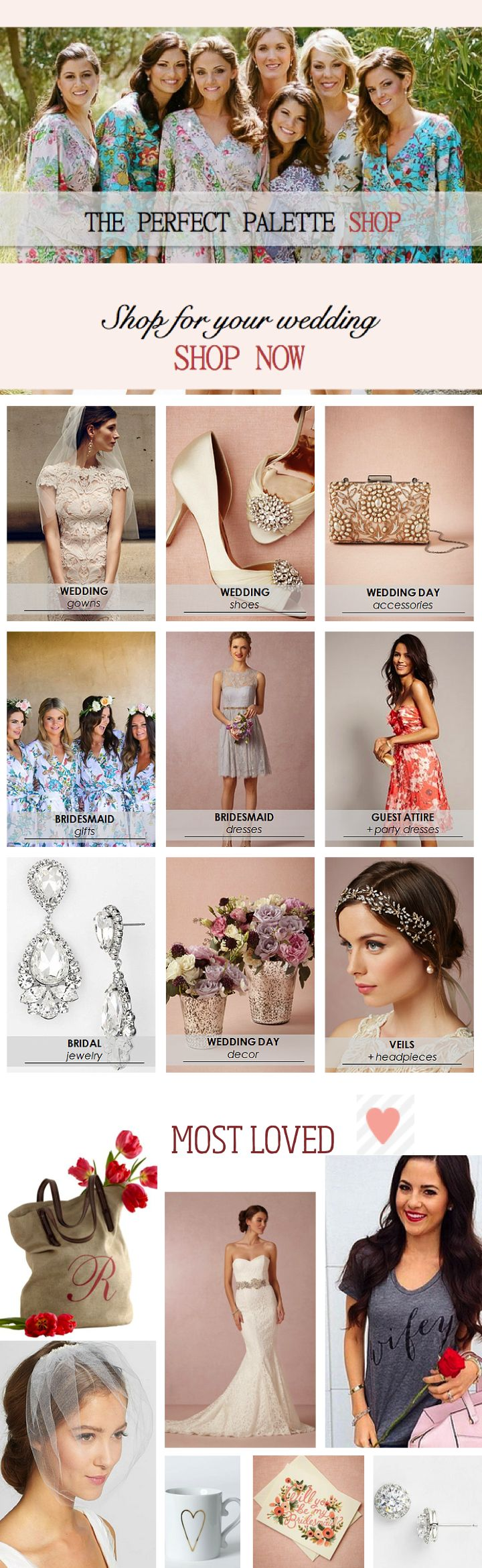 Brand NEW shop on The Perfect Palette! In addition to bridal fashion and bridesmaid gifts - Im also sharing my favorite picks for party decor, invitations, favors, and more. Shopping for your upcoming wedding or party has never been easier! Ive done all of the hard work for you! Shop with me at www.ThePerfectPaletteShop.com