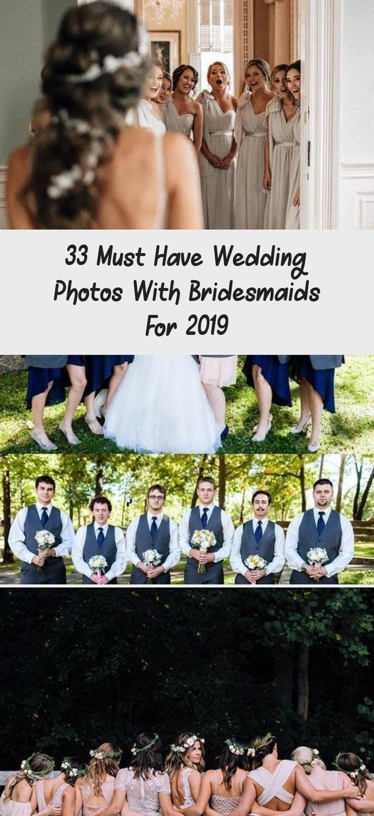 33 Must Have Wedding Photos with Bridesmaids for 2019 #GrayBridesmaidDresses #BridesmaidDressesColors #RusticBridesmaidDresses #OrangeBridesmaidDresses #BridesmaidDressesLong