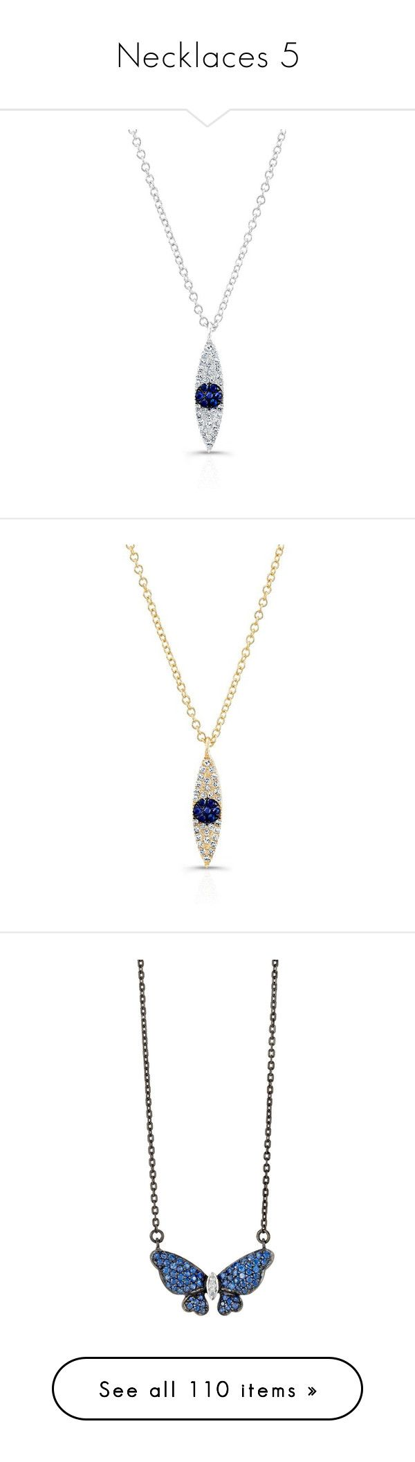 """Necklaces 5"" by valforeverblue ❤ liked on Polyvore featuring jewelry, necklaces, diamond chain necklace, white gold diamond necklace, sapphire pendant, white gold diamond pendant, white gold chain necklace, gold necklace pendant, yellow gold diamond necklace and diamond necklace pendant"