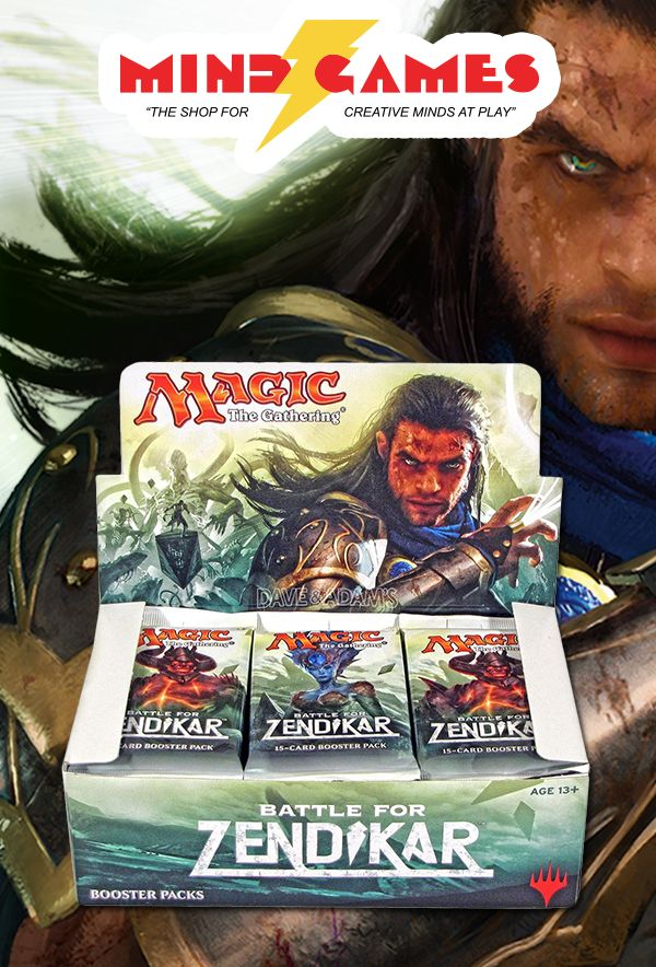 Magic: The Gathering Battle For Zendikar Booster Box includes a fully-sealed box containing 36 Battle For Zendikar booster packs. Each booster pack includes 15 cards to add to your collection—and you can expect one of those 15 to be a rare or mythic rare. Some packs even contain a premium foil card! New for the Battle For Zendikar block is the ultra rare chance to open an Expedition, a premium foil reprint of a powerful Land card from Magic: The Gathering's history.