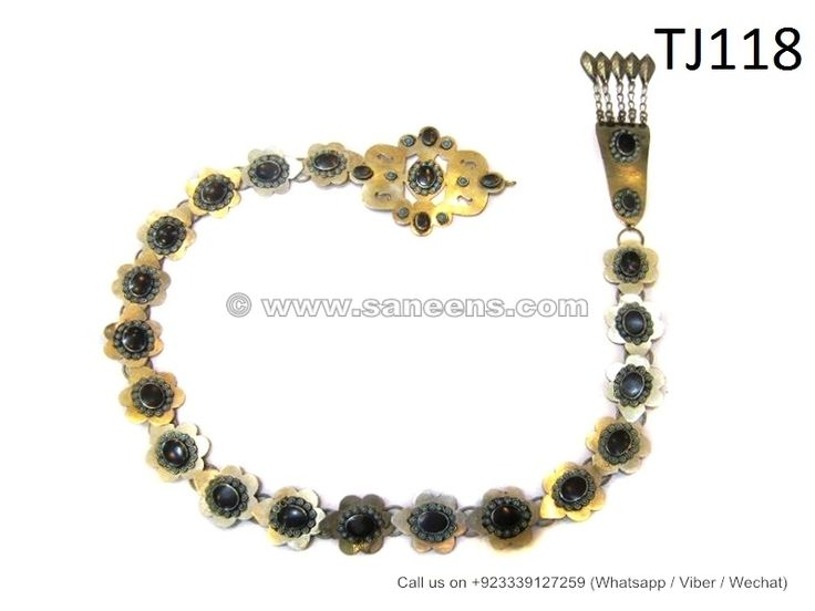 afghan muslim handmade belt with black stones bellydance jewelry snake shape belt online