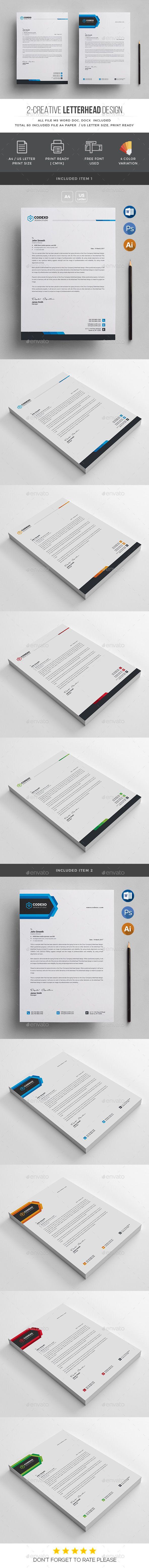 Letterhead Template 232 best Letterhead Design images