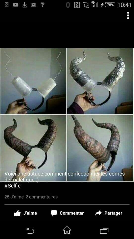 That's a cool to make Maleficent horns