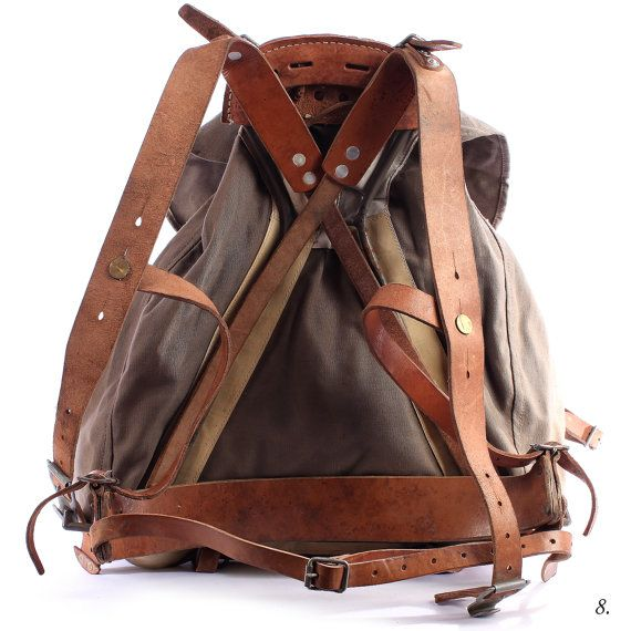 1930s Backpack . Canvas Rucksack . External Frame by BetaPorHomme, $119.00