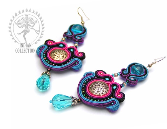 Sutasz-Anka: Ganga - earrings http://www.soutage.com/2012/12/ganga-kolczyki.html