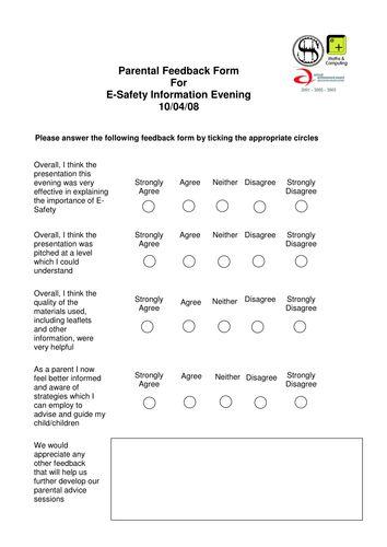 98 best Internet Safety images on Pinterest Student-centered - student feedback form