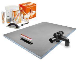 Prowarm Linear end drain wet room shower tray (1200 x 900 x 30mm)