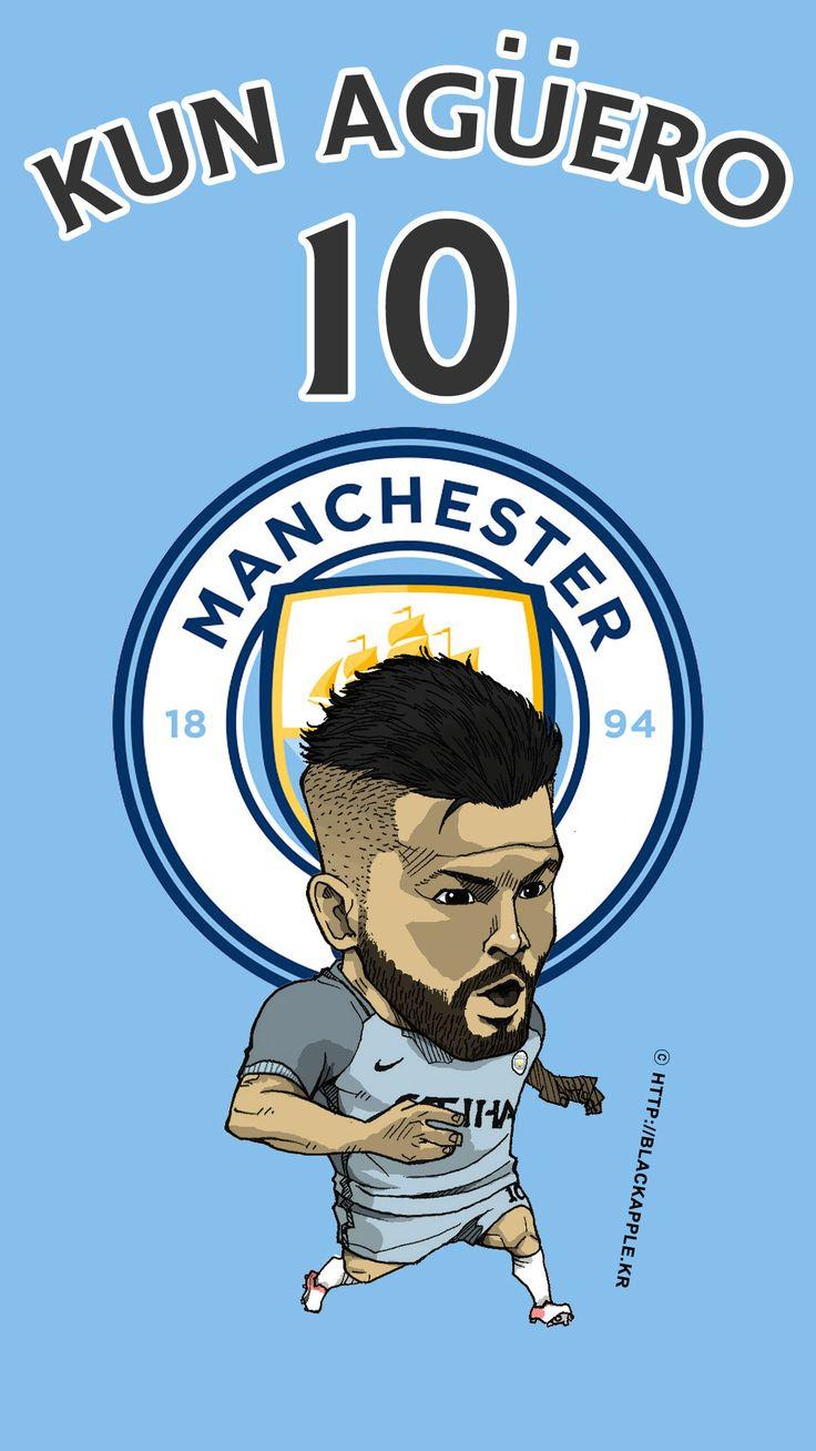 Manchester City No.10 Kun Aguero Fan Art