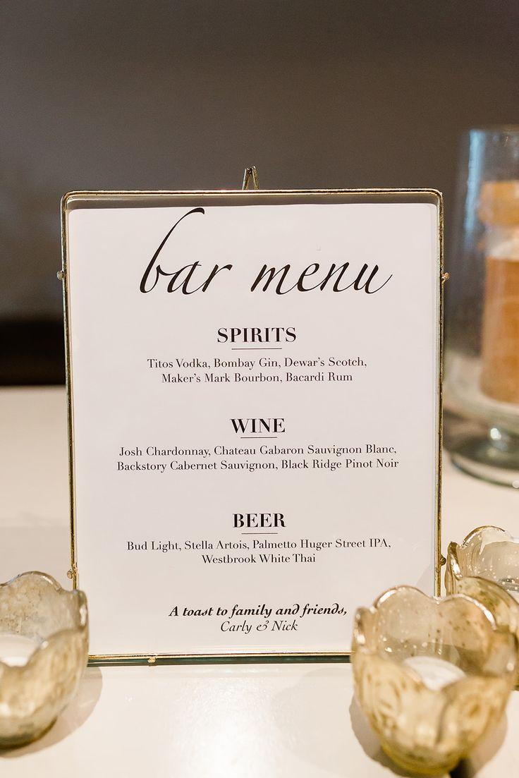 23+ Wedding bar menu examples ideas